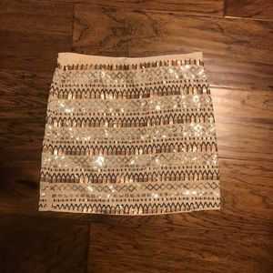 Michele Small Sequined Mini Skirt